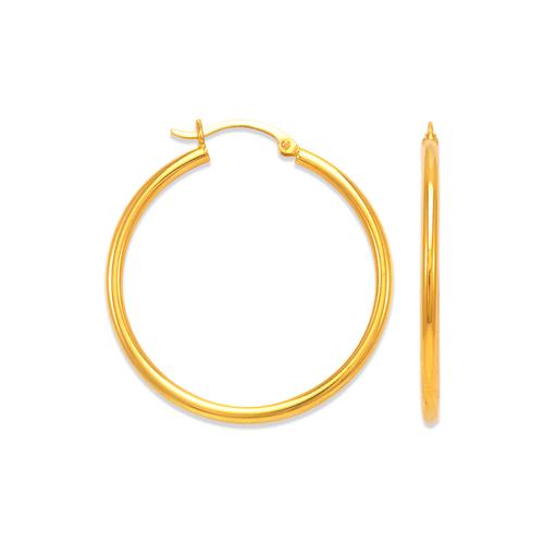 546-121S 2mm Round Tube Hoop Earrings