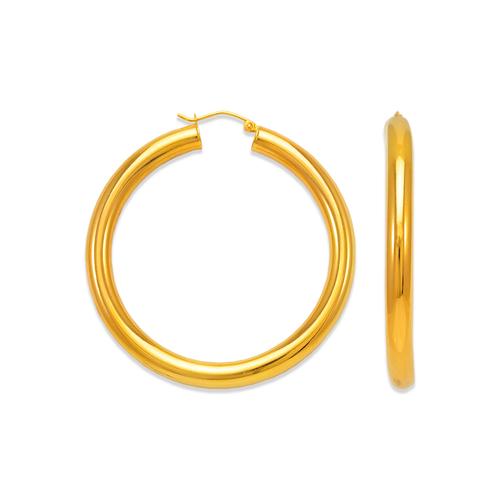 546-151S 5mm Round Tube Hoop Earrings