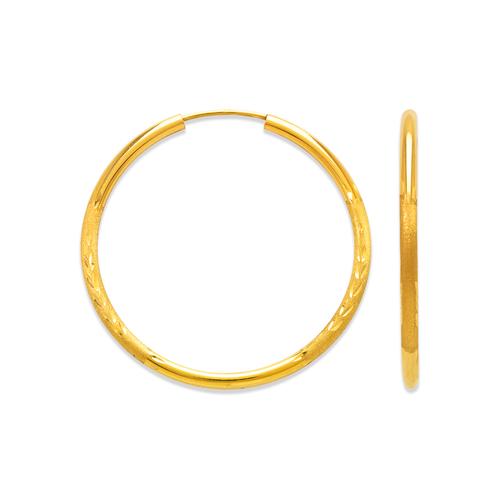 546-211S 2mm Round Tube Hoop Earrings