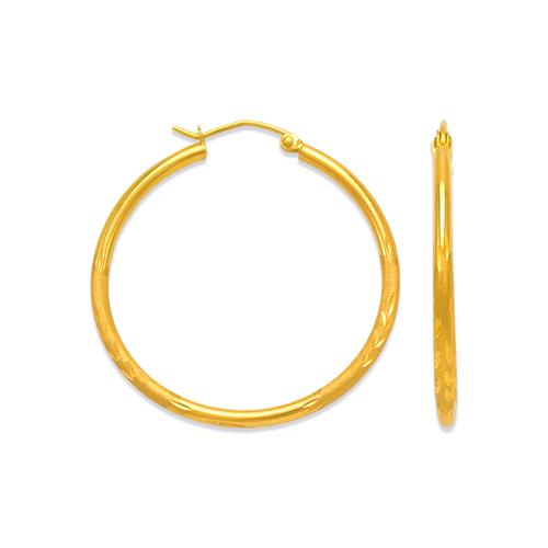 546-221S 2mm Round Tube Hoop Earrings