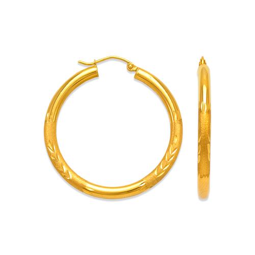 546-241S 3mm Round Tube Hoop Earrings