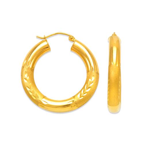 546-261S 5mm Round Tube Hoop Earrings