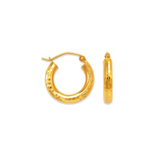 546-523S 3mm Round Tube Hoop Earrings