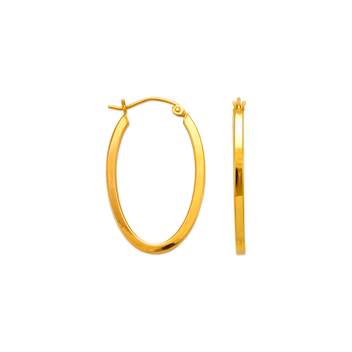 546-651S 2mm Square Tube Hoop Earrings