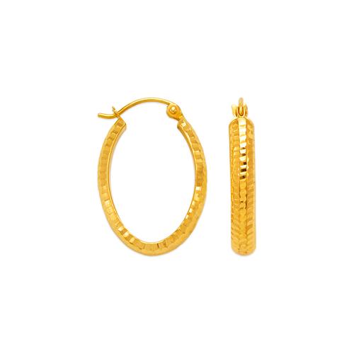 546-655S 3.5mm Square Tube Hoop Earrings