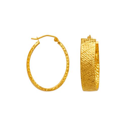 546-661S 1.5x8mm Square Tube Hoop Earrings