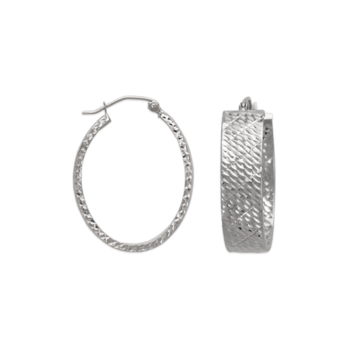 546-661WS 1.5x8mm Square Tube Hoop Earrings