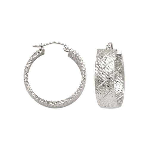 546-681WS 1.5x8mm Square Tube Hoop Earrings