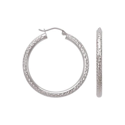546-721WS 3mm Round Tube Hoop Earrings