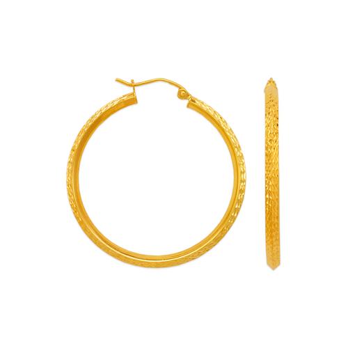 546-801S 2.5mm Square Tube Hoop Earrings