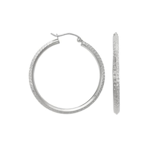 546-801WS 2.5mm Square Tube Hoop Earrings