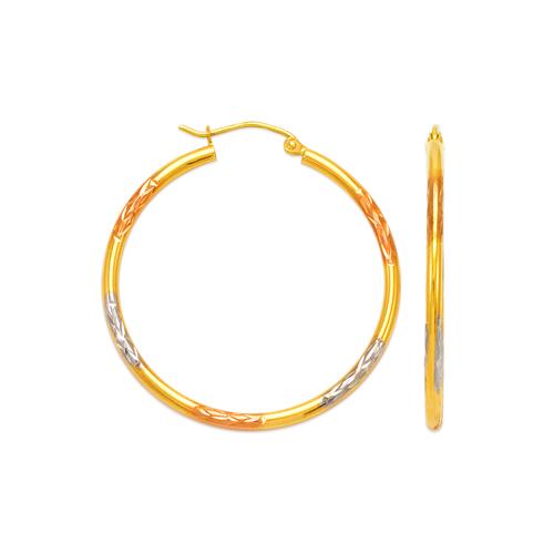 546-861TS 2mm Round Tube Hoop Earrings