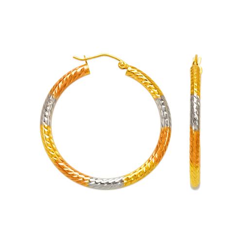 546-941TS 3mm Round Tube Hoop Earrings