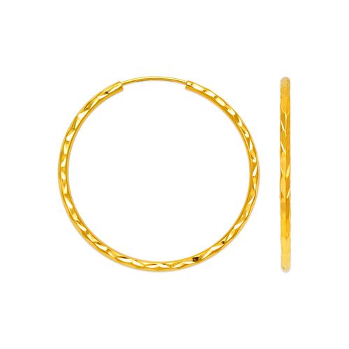 546-951S 1.8mm Round Tube Hoop Earrings