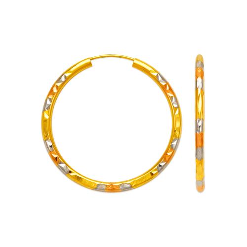 546-961TS 2.5mm Round Tube Hoop Earrings
