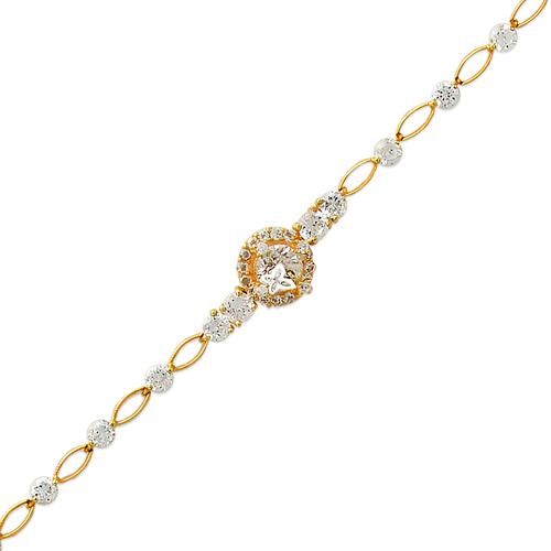 483-002 Ladies Fancy CZ Bracelet