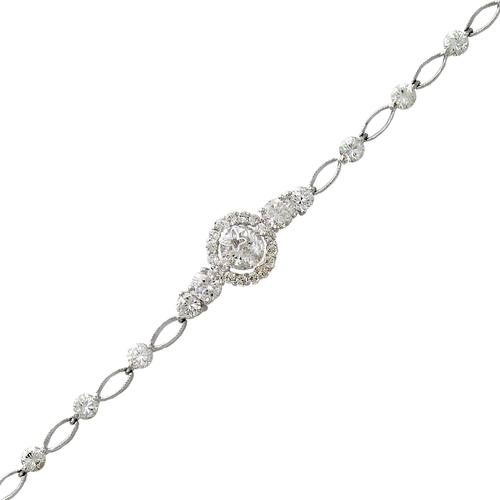 483-002W Ladies Fancy White CZ Bracelet