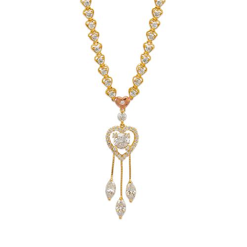 483-005 Fancy Heart CZ Necklace