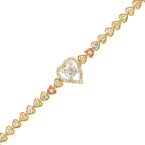 483-006 Ladies Fancy CZ Bracelet