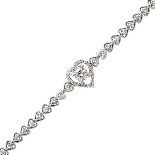 483-006W Ladies Fancy White CZ Bracelet
