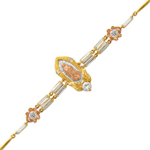 483-018 Ladies Fancy Guadalupe CZ Bracelet