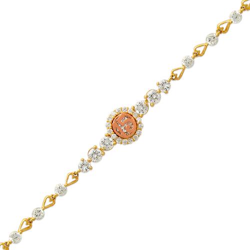 483-022 Ladies Fancy 15 Anos CZ Bracelet