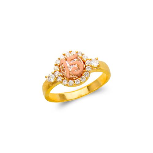 483-023 Ladies Fancy 15 Anos CZ Ring
