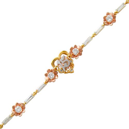 483-101 Ladies Fancy 15 Anos Heart CZ Bracelet