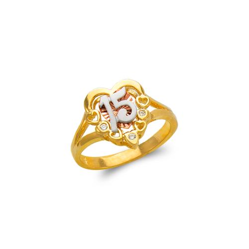 483-103 Ladies Fancy 15 Anos CZ Ring