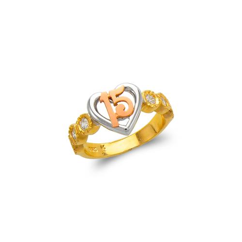 483-107 Ladies Fancy 15 Anos CZ Ring