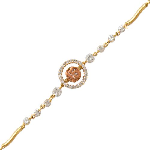 483-109 Ladies Fancy 15 Anos Halo CZ Bracelet