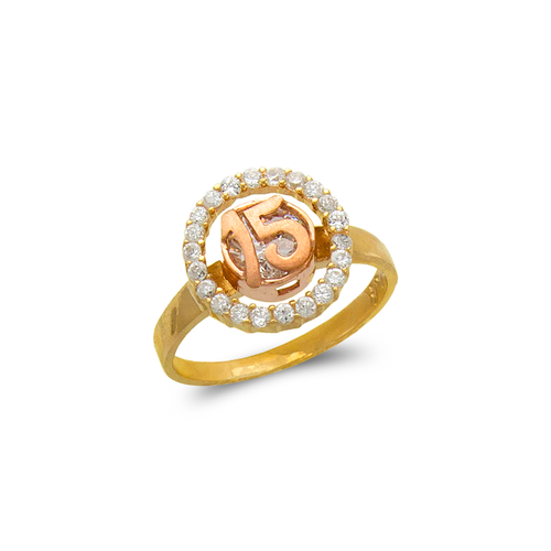 483-111 Ladies Fancy 15 Anos CZ Ring