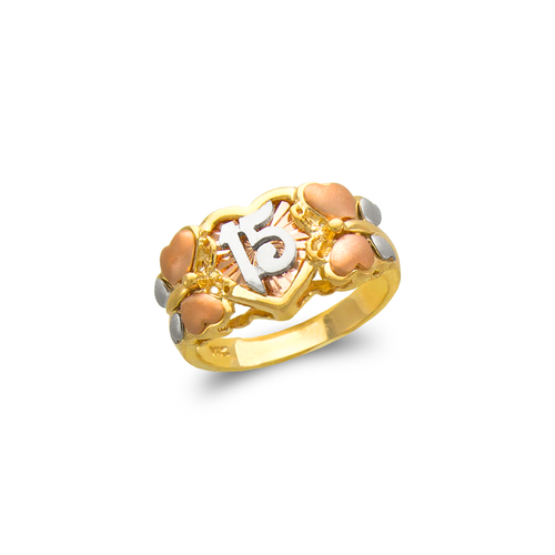 483-114 Ladies Fancy 15 Anos Butterfly CZ Ring