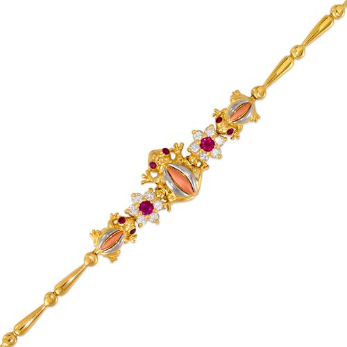 483-201 Ladies Fancy Frog CZ Bracelet
