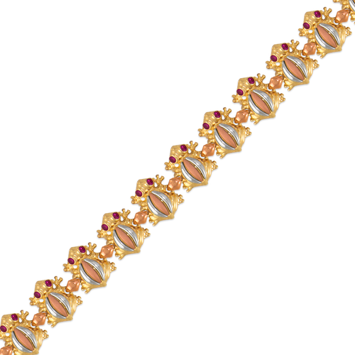 483-203 Ladies Fancy Frog CZ Bracelet