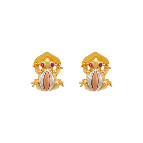 483-206 Fancy Frog Pushback CZ Earrings