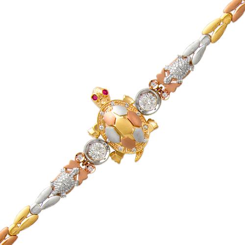 483-211 Ladies Fancy Turtle CZ Bracelet