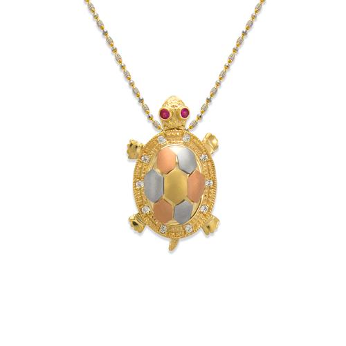 483-217 Medium Fancy Turtle CZ Pendant