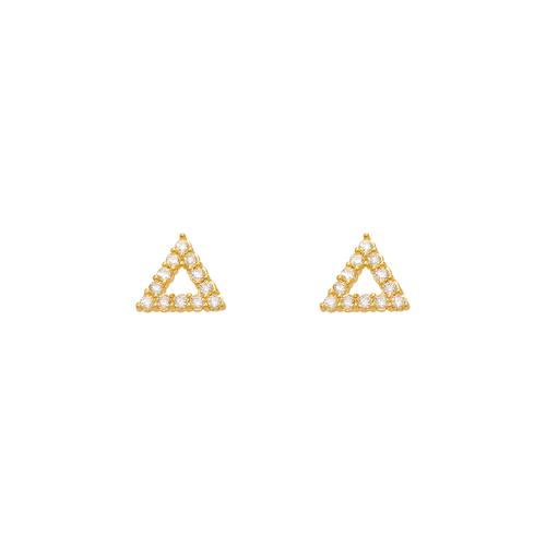 343-153 Triangle Pave CZ Stud Earrings