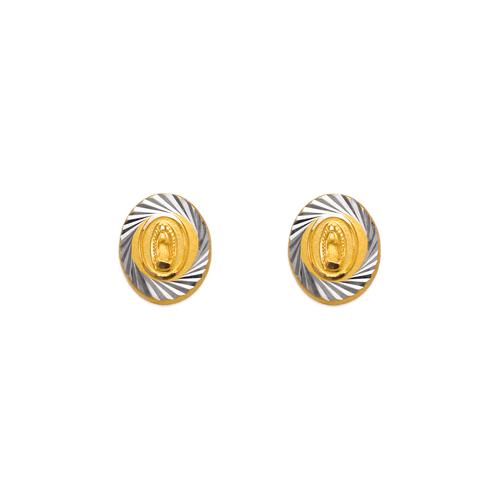 343-310 Diamond Cut Guadalupe Oval Stud Earrings