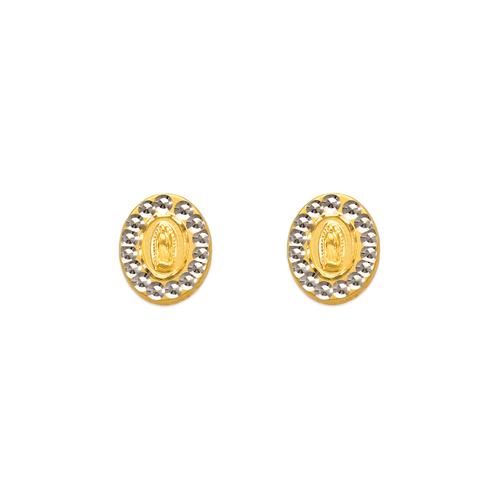 343-311 Diamond Cut Guadalupe Hand Oval Stud Earrings