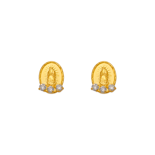 343-312WH Guadalupe CZ Stud Earrings