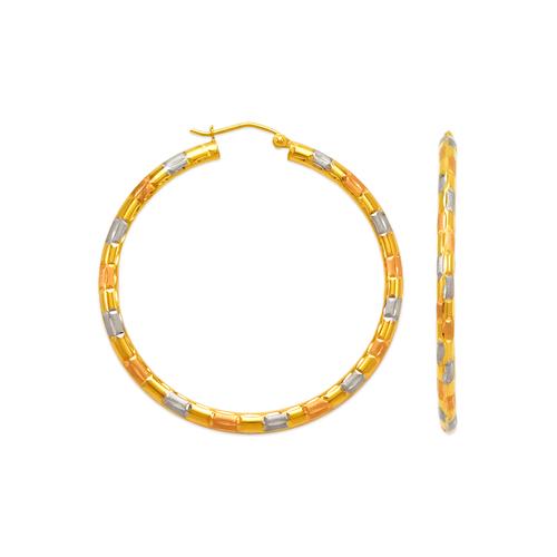 546-981TS 3mm Round Tube Hoop Earrings