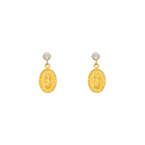 343-313 Dangling Guadalupe CZ Stud Earrings