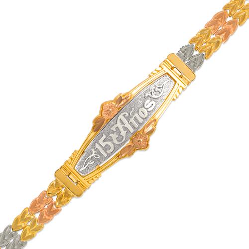 522-201 Ladies Diamond Cut Faceted Bracelet
