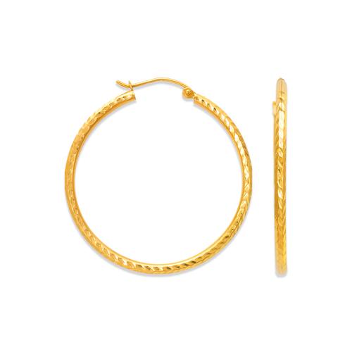 546-501S 2mm Round Tube Hoop Earrings