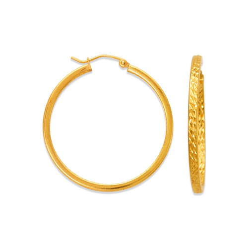 546-541S 3mm Square Tube Hoop Earrings