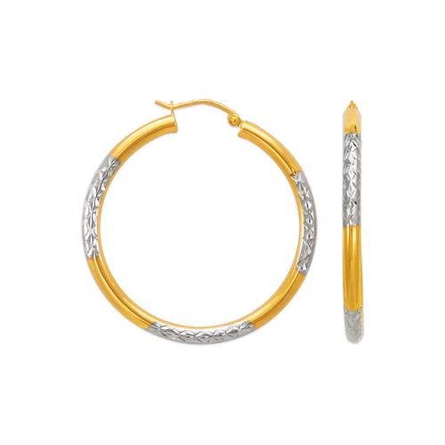 546-911ZS 3mm Round Tube Hoop Earrings