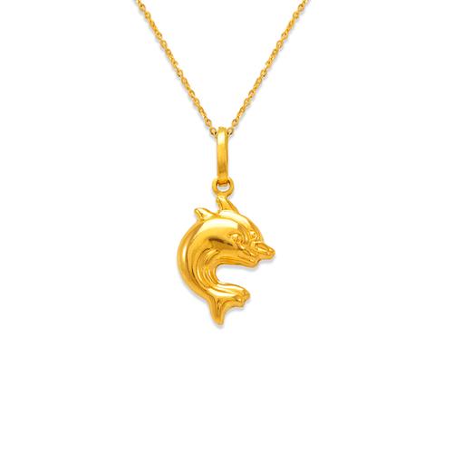 166-014 Double Dolphin Charm Pendant