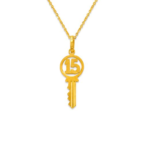 166-030 15 Anos Key Charm Pendant